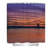Tappan Zee Bridge Sunset Shower Curtain