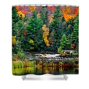 Taquamenon Lower Falls And Observation Deck. Shower Curtain