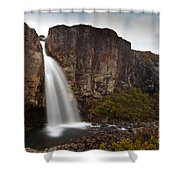 Taranaki Falls In Tongariro Np New Zealand Shower Curtain
