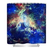 Tarantula Nebula 4 Shower Curtain by Jennifer Rondinelli Reilly - Fine Art Photography