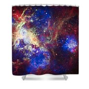 Tarantula Nebula 6  Shower Curtain by Jennifer Rondinelli Reilly - Fine Art Photography