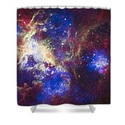 Tarantula Nebula Shower Curtain by Adam Romanowicz