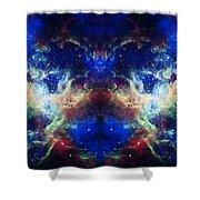 Tarantula Nebula Reflection Shower Curtain by Jennifer Rondinelli Reilly - Fine Art Photography