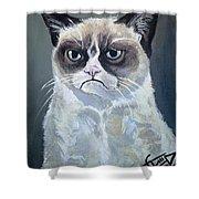 Tard - Grumpy Cat Shower Curtain