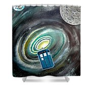 Tardis Shower Curtain by John Lyes