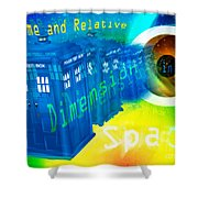 Tardis Time And Relative Dimension In Space Shower Curtain