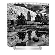 Tarn Reflection Shower Curtain