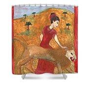 Tarot 11 Strength Shower Curtain