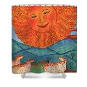 Tarot 19 The Sun Shower Curtain