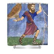 Tarot 5 Jupiter Shower Curtain