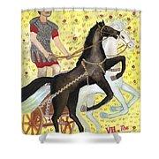 Tarot 7 The Chariot Shower Curtain