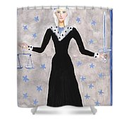 Tarot 8 Justice Shower Curtain