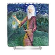 Tarot 9 The Hermit Shower Curtain