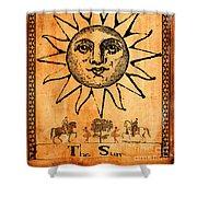 Tarot Card The Sun Shower Curtain by Cinema Photography