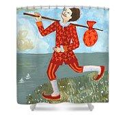 Tarot The Fool Shower Curtain