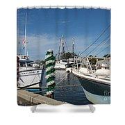 Tarpon Springs Fishing Boats  Shower Curtain