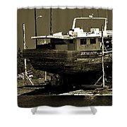 Tarpon Springs Sponge Boat Shower Curtain