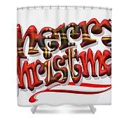 Tartan Merry Christmas Shower Curtain