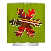Tartan Snowflake On Green Shower Curtain