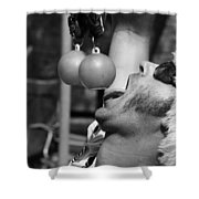 Tasty Juggler  Shower Curtain