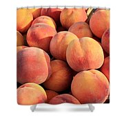 Tasty Peaches Shower Curtain by Carol Groenen