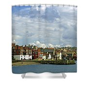 Tate Hill Pier And The Shambles - Whitby Shower Curtain