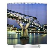 Tate Modern And Millennium Bridge Shower Curtain