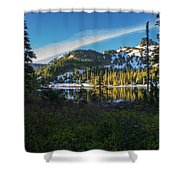Tatoosh Peek Shower Curtain