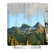 Tatoosh Range In August. Mt Rainier National Park Shower Curtain