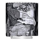 Tattered And Torn Shower Curtain
