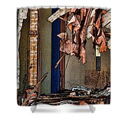 Tattered Shower Curtain