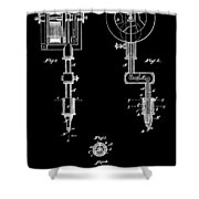 Tattoo Machine Shower Curtain by Dan Sproul