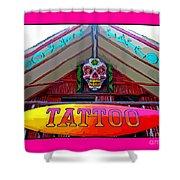 Tattoo Sign Digital Shower Curtain