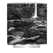 Taughannock Black And White Shower Curtain