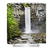 Taughannock Falls And Creek Shower Curtain