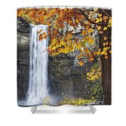 Taughannock Falls And Maple Shower Curtain