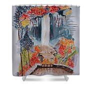 Taughannock Falls Ny In Autumn Shower Curtain