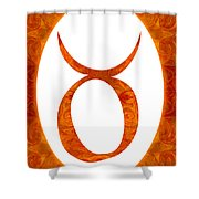 Taurus And Sacral Chakra  Abstract Spiritual Artwork By Omaste W Shower Curtain
