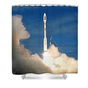 Taurus Rocket Launch Shower Curtain