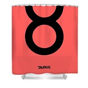 Taurus Zodiac Sign Black  Shower Curtain