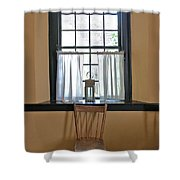 Tavern Window And Chair Shower Curtain