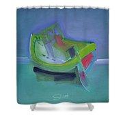 Tavira Fishing Boat Abandoned Shower Curtain