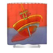 Tavira Fishing Boat Shower Curtain