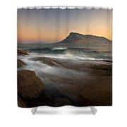 Tavolara Island Shower Curtain