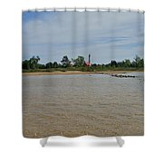 Tawas Point Light Shower Curtain