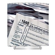 Tax Time  Shower Curtain