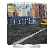 Taxi 9 Nyc Under Construction Shower Curtain