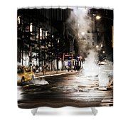 Taxi And Smoke Shower Curtain