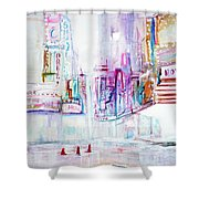 Taxi Eight Show Time Shower Curtain