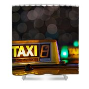 Taxi Signs Shower Curtain